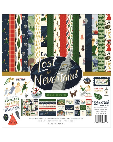 Echo Park Lost in Neverland 12x12 Inch Collection Kit (LIN179016)
